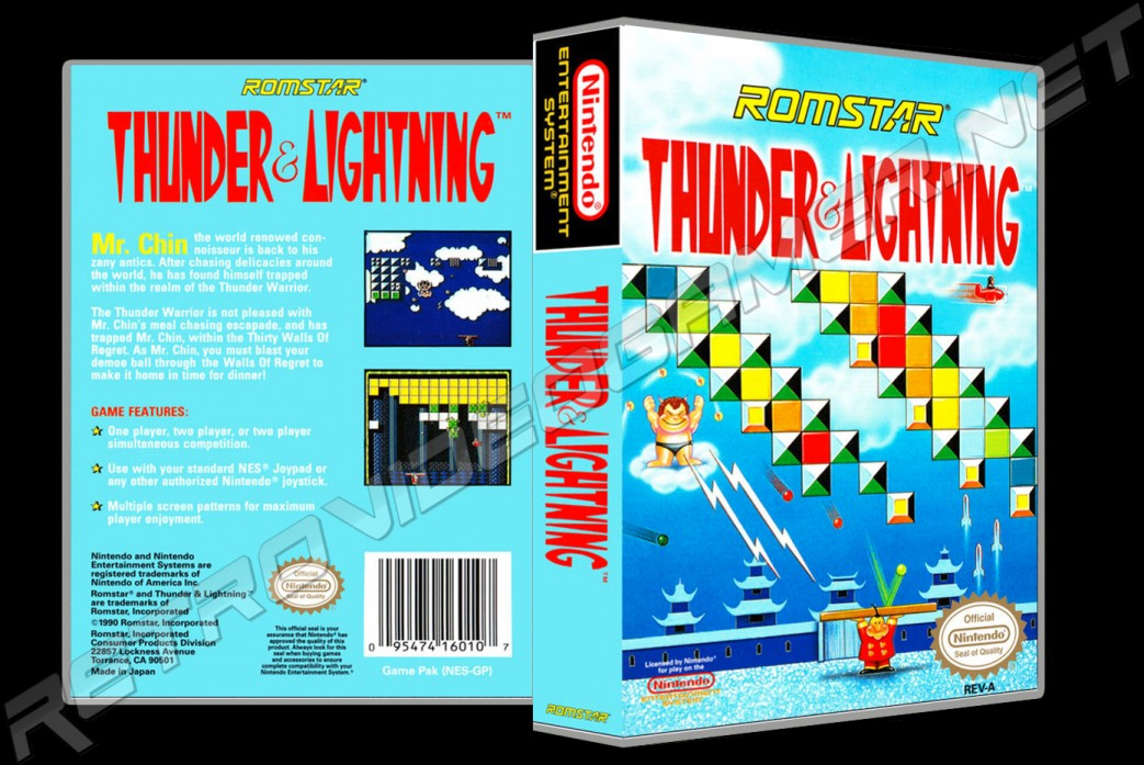 Thunder and Lightning - Custom Game Case