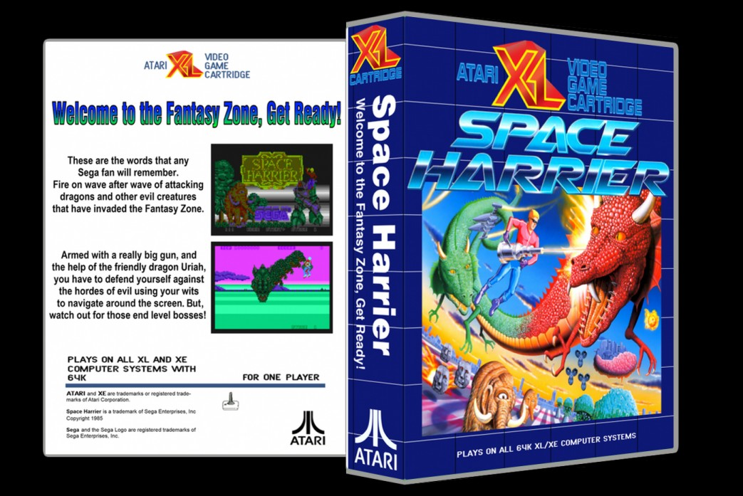 Space Harrier - Custom Game Case