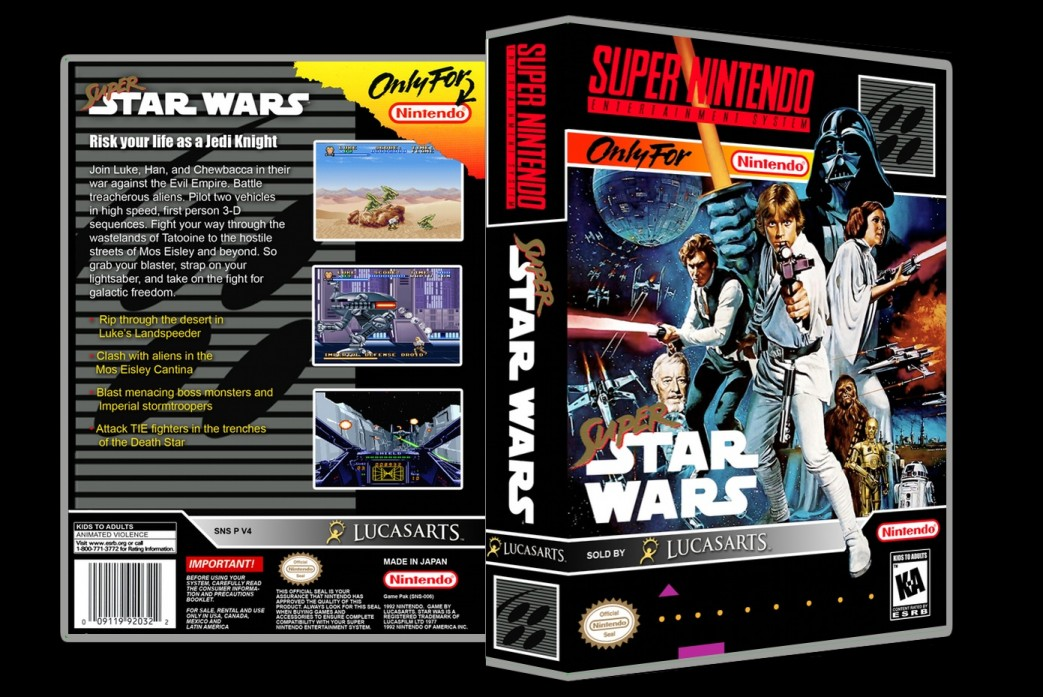 Super Star Wars -  Game Case