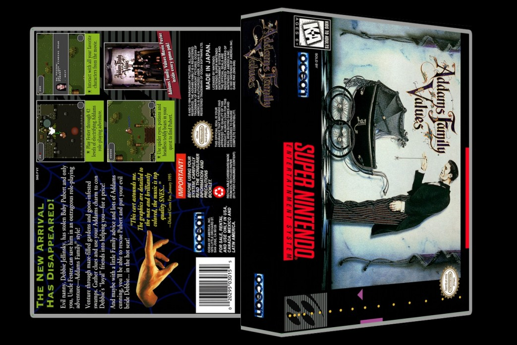 Addams Family Values -  Game Case
