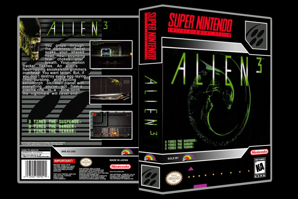 Alien 3 -  Game Case