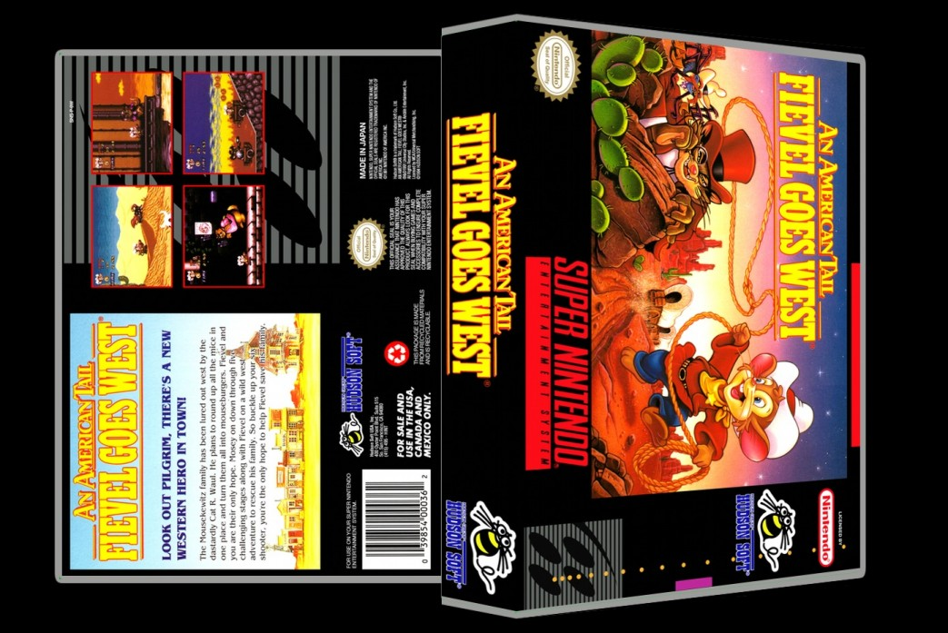 An American Tail: Feivel Goes West -  Game Case