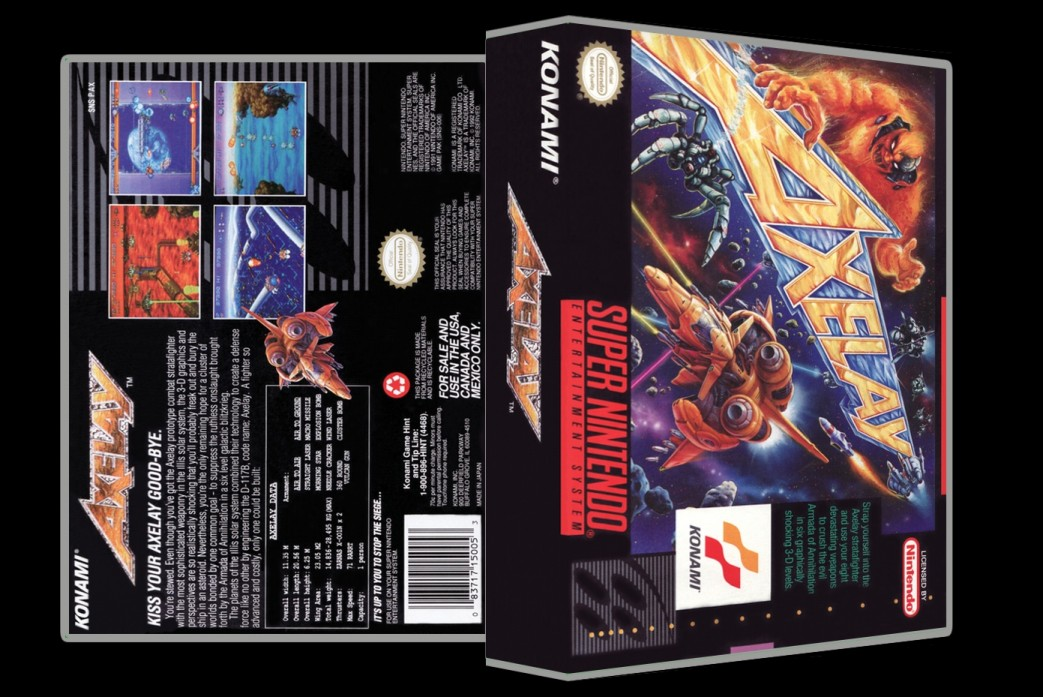 Axelay -  Game Case