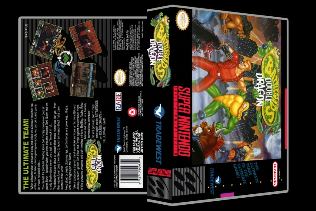 Battletoads Double Dragon -  Game Case