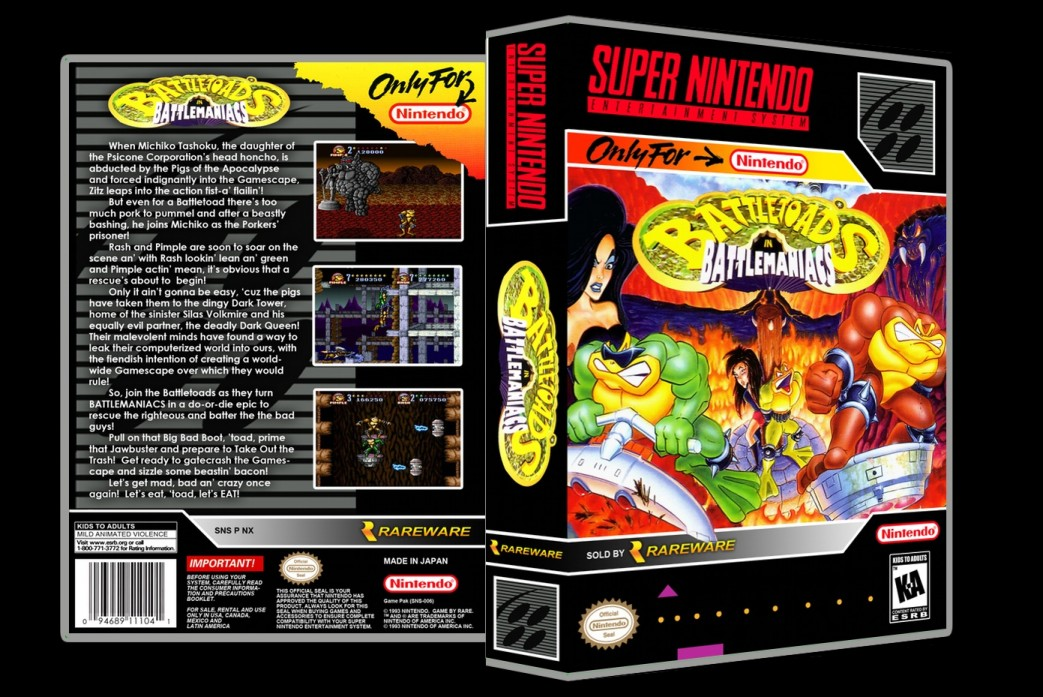Battletoads in Battlemaniacs -  Game Case