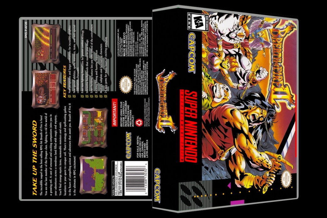 Breath of Fire 2 -  Game Case
