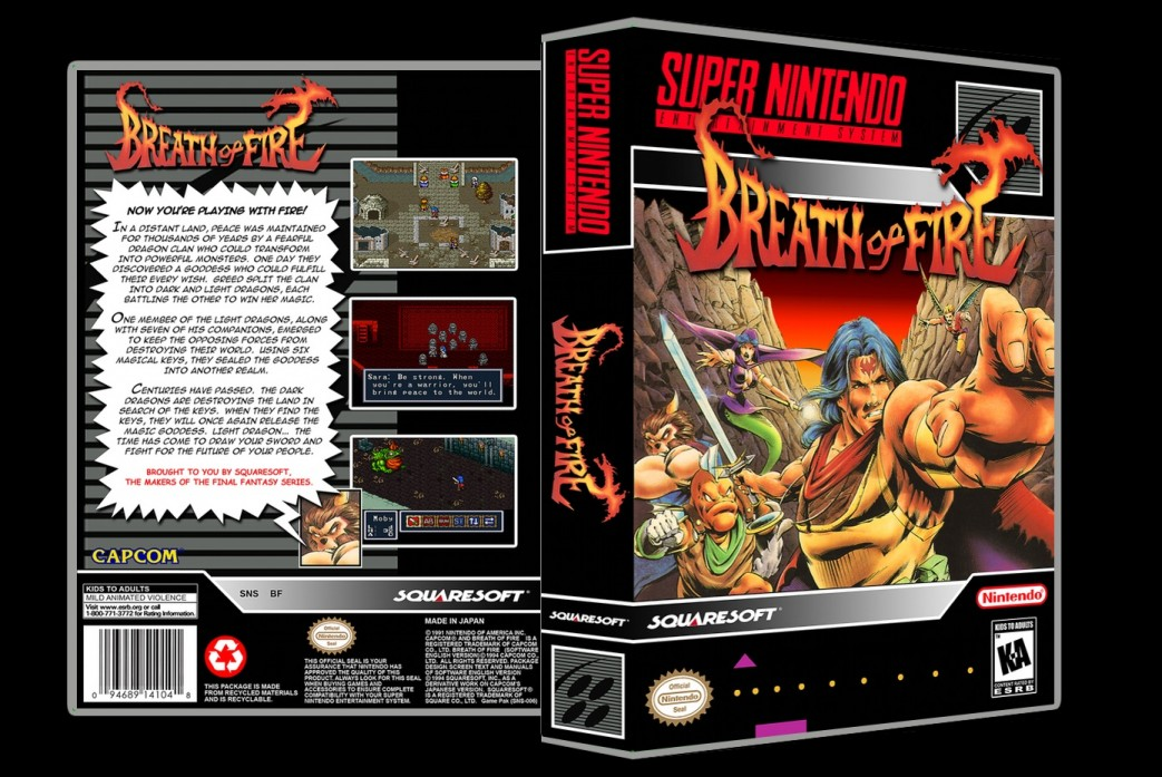 Breath of Fire -  Game Case