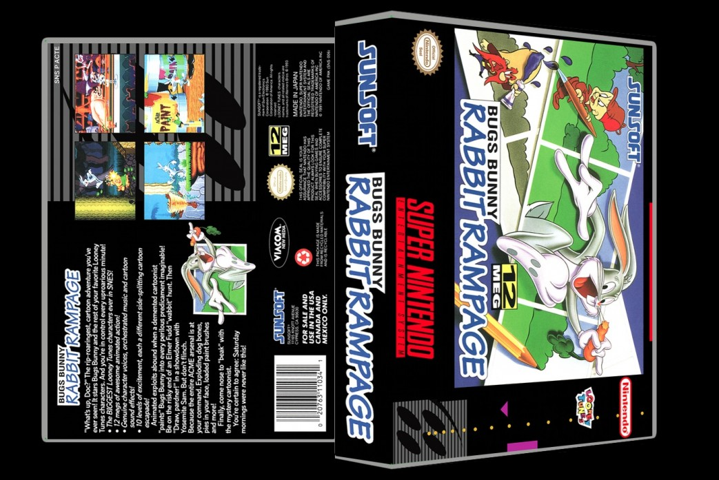 Bugs Bunny Rabbit Rampage -  Game Case