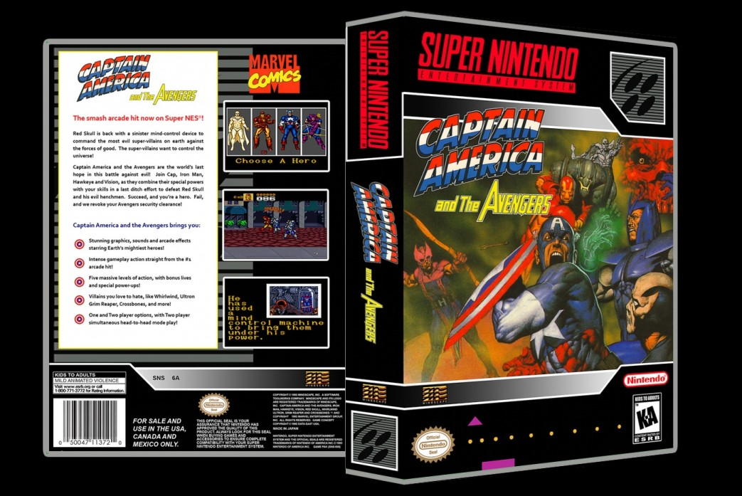 Captain America and The Avengers -  Game Case