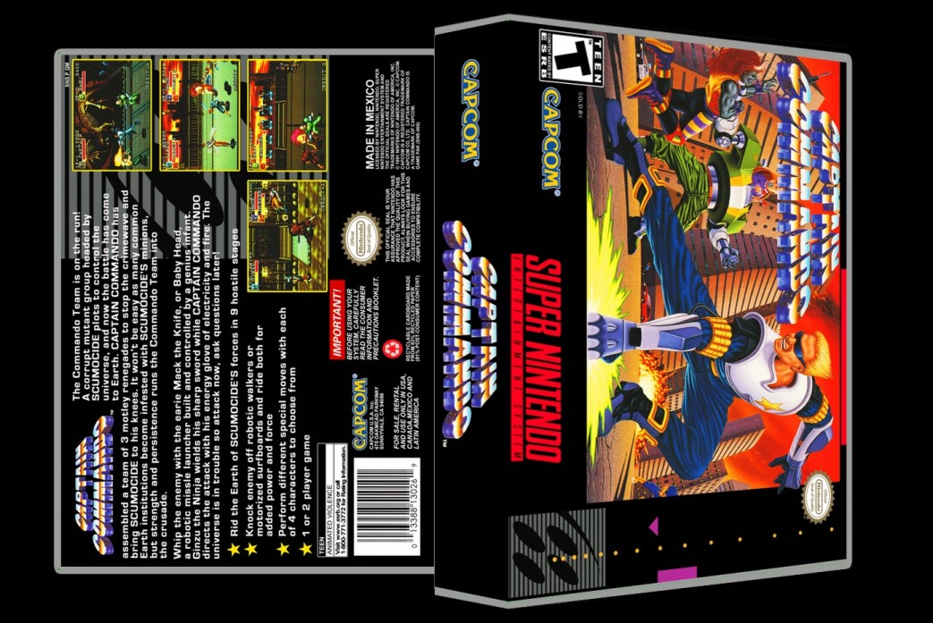 Captain Commando -  Game Case