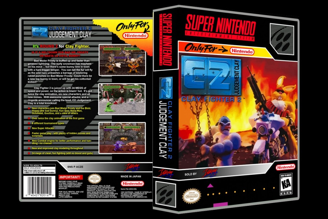 Clay Fighter: C2 Judgement Clay -  Game Case