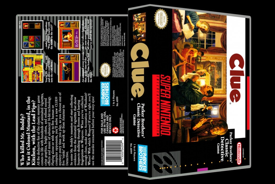 Clue -  Game Case