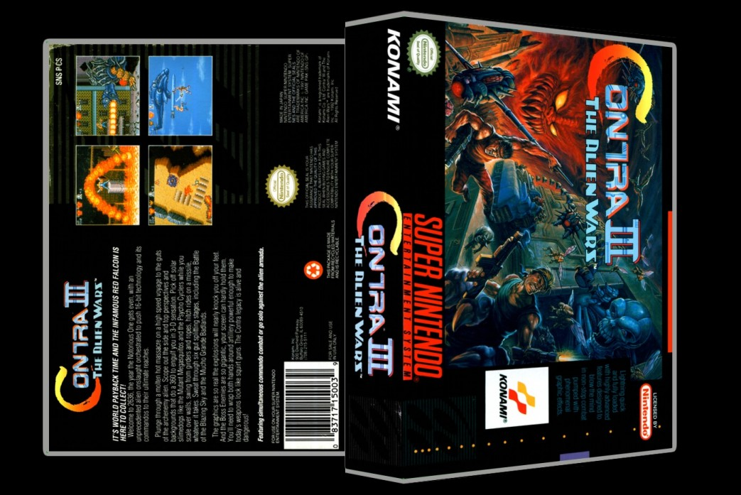 Contra III -  Game Case