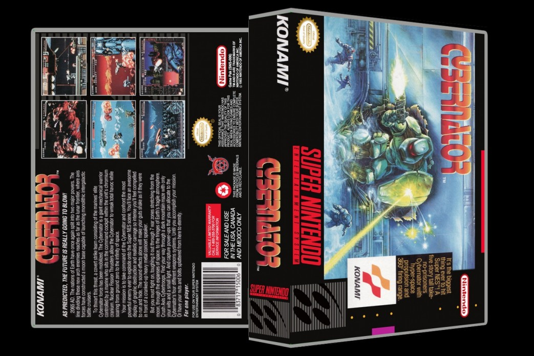 Cybernator -  Game Case