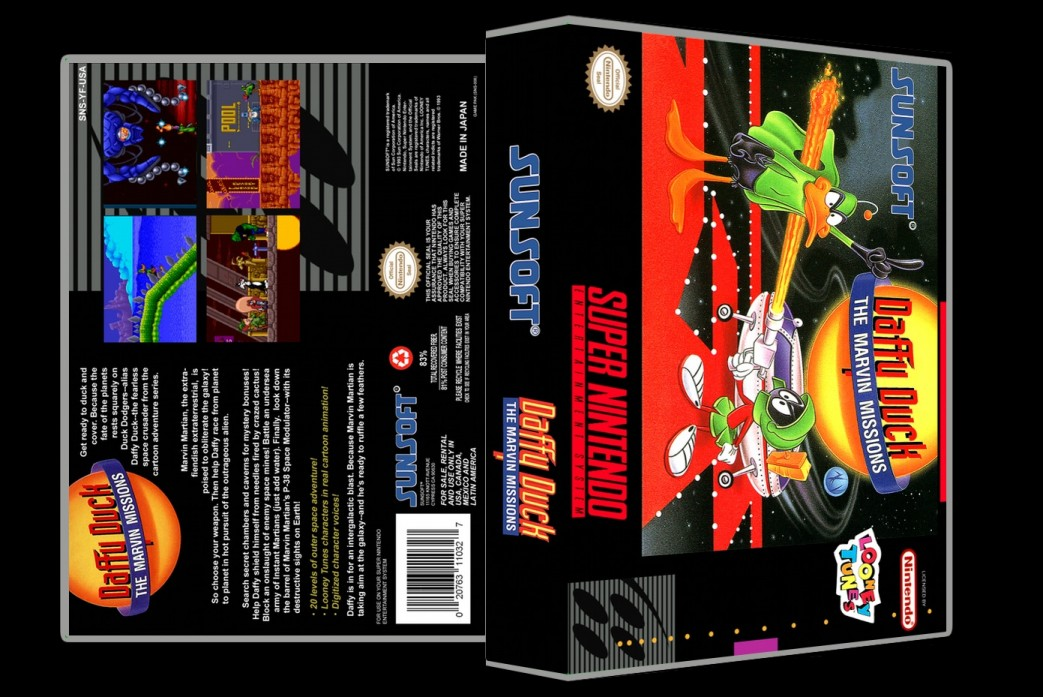 Daffy Duck: The Marvin Missions -  Game Case