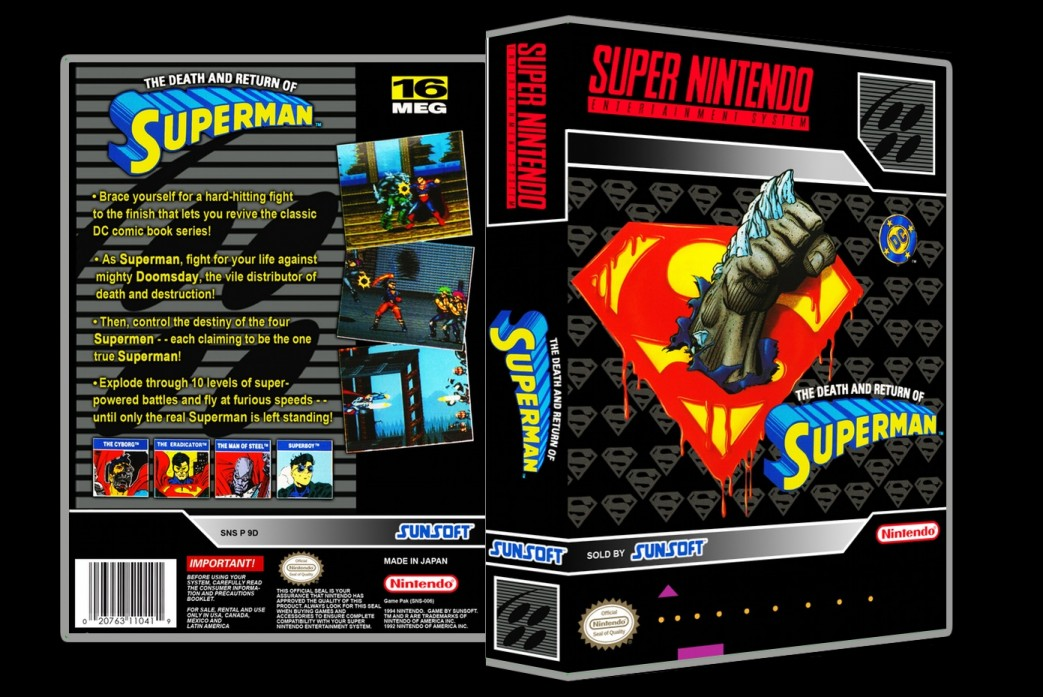 Death and Return of Superman -  Game Case