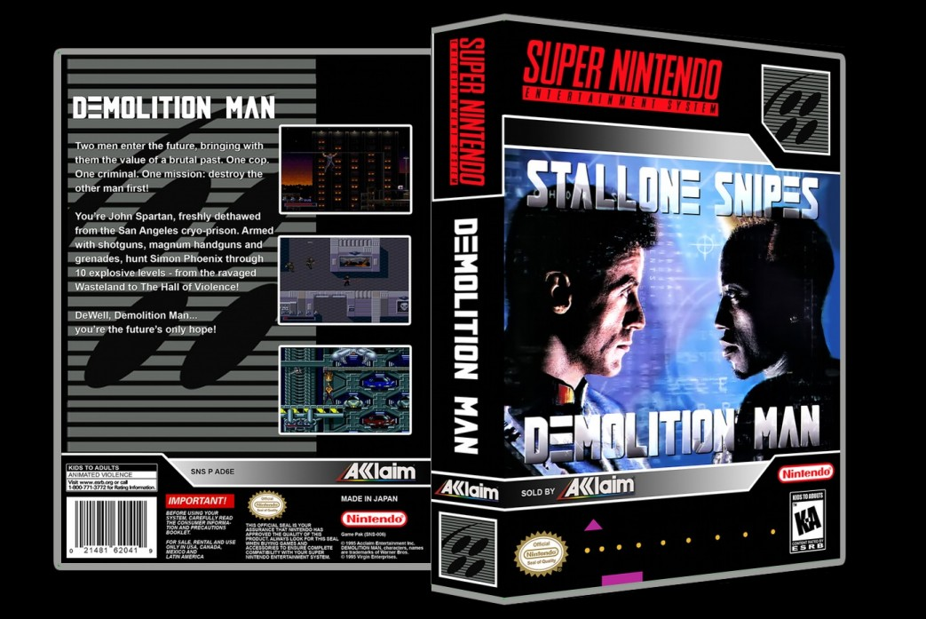 Demolition Man -  Game Case