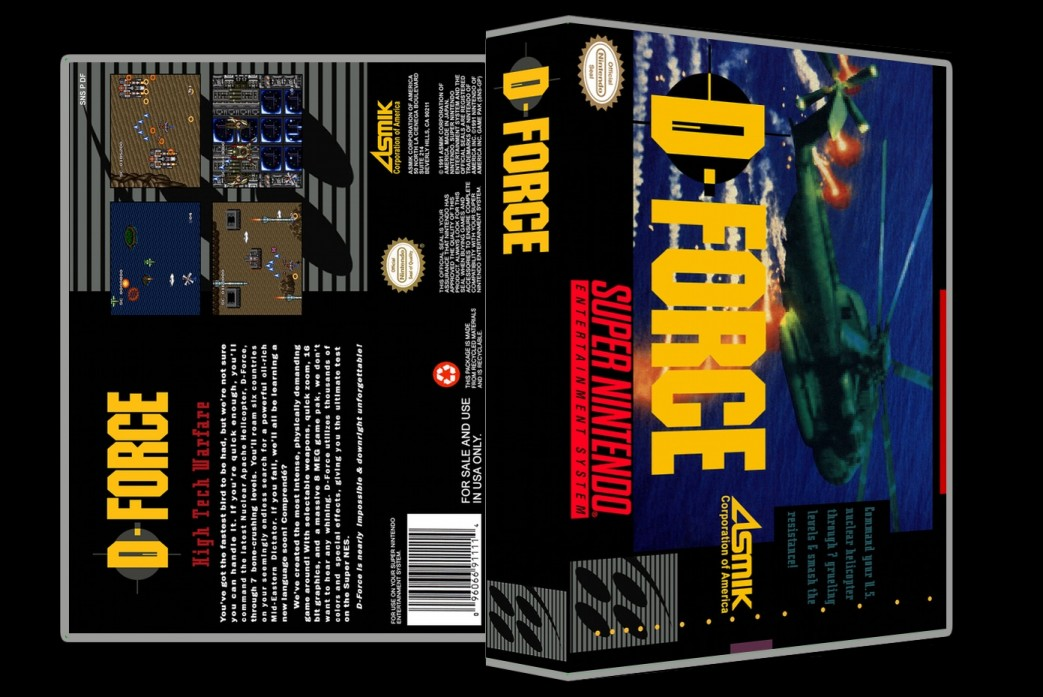D-Force -  Game Case