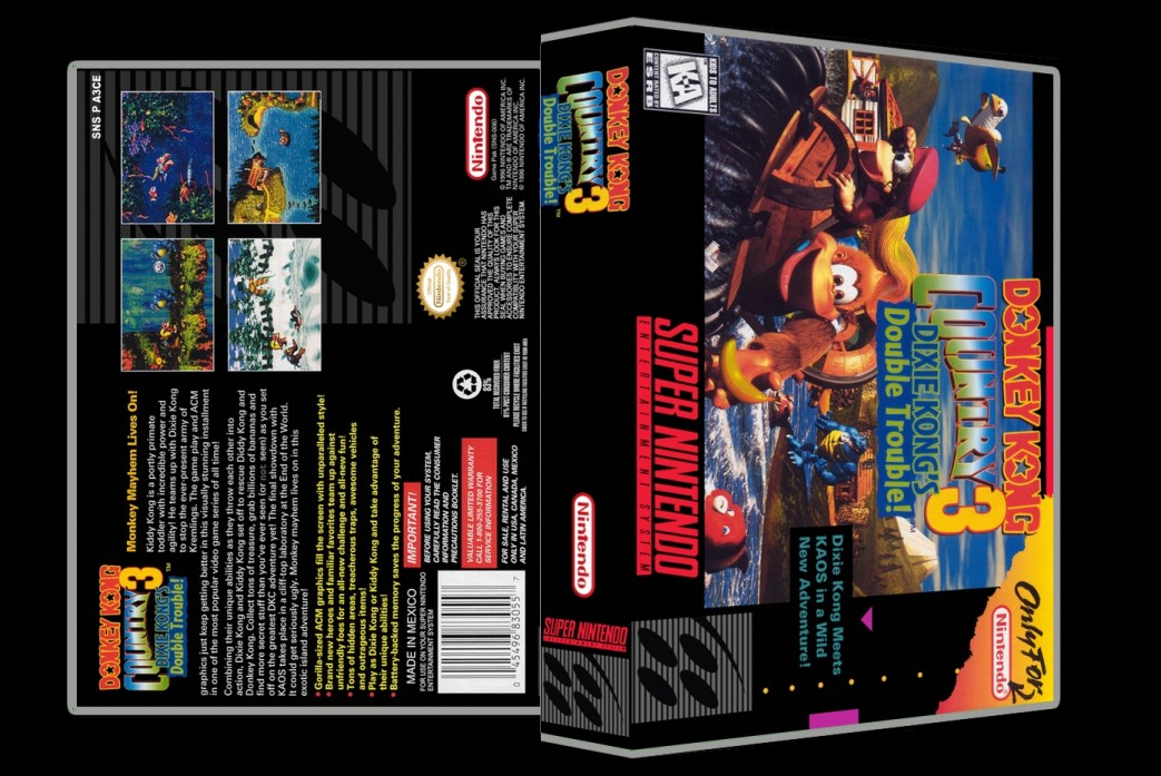 Donkey Kong Country 3 -  Game Case
