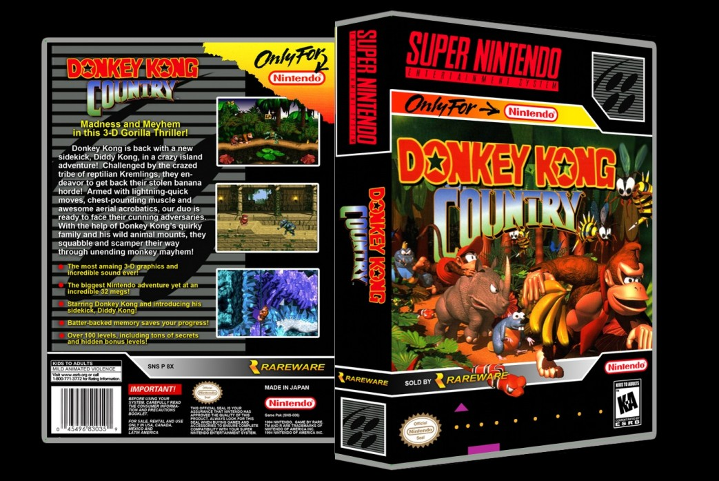 Donkey Kong Country -  Game Case