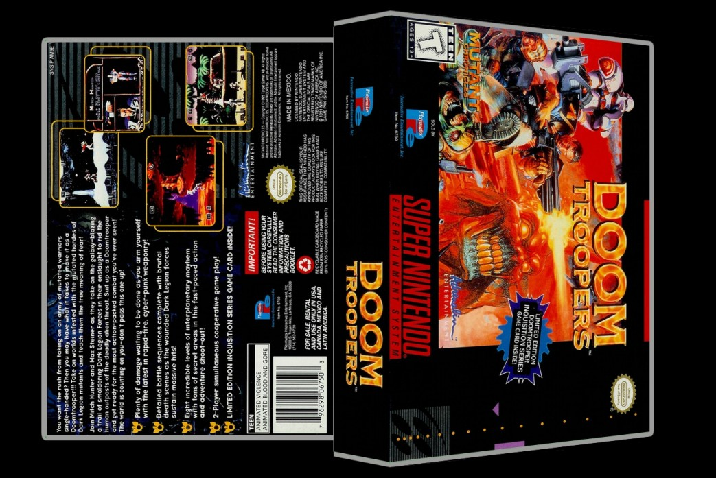Doom Troopers: Mutant Chronicles -  Game Case