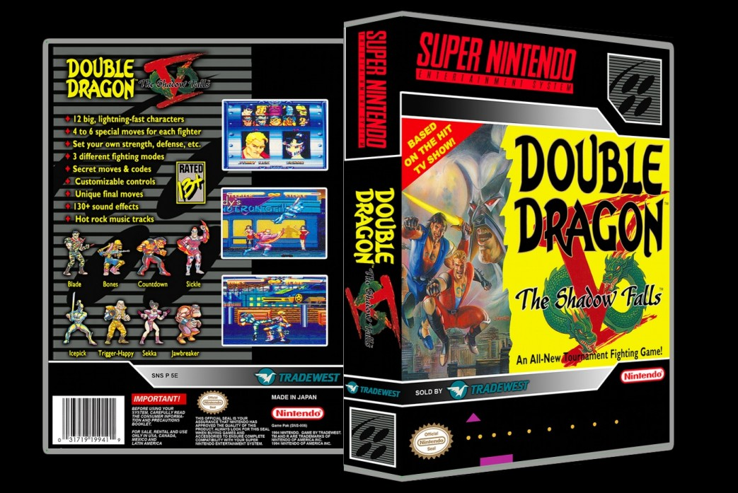 Double Dragon V: The Shadow Falls -  Game Case