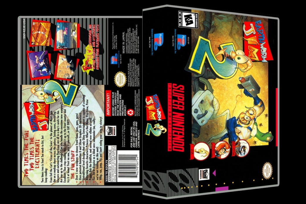 Earthworm Jim 2 -  Game Case