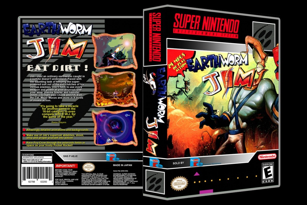 Earthworm Jim -  Game Case