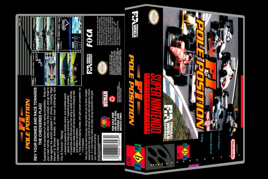F1 Pole Position -  Game Case