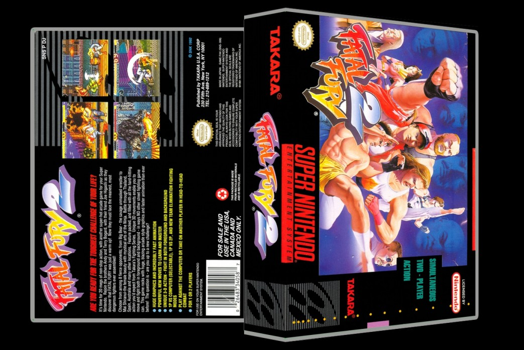 Fatal Fury 2 -  Game Case