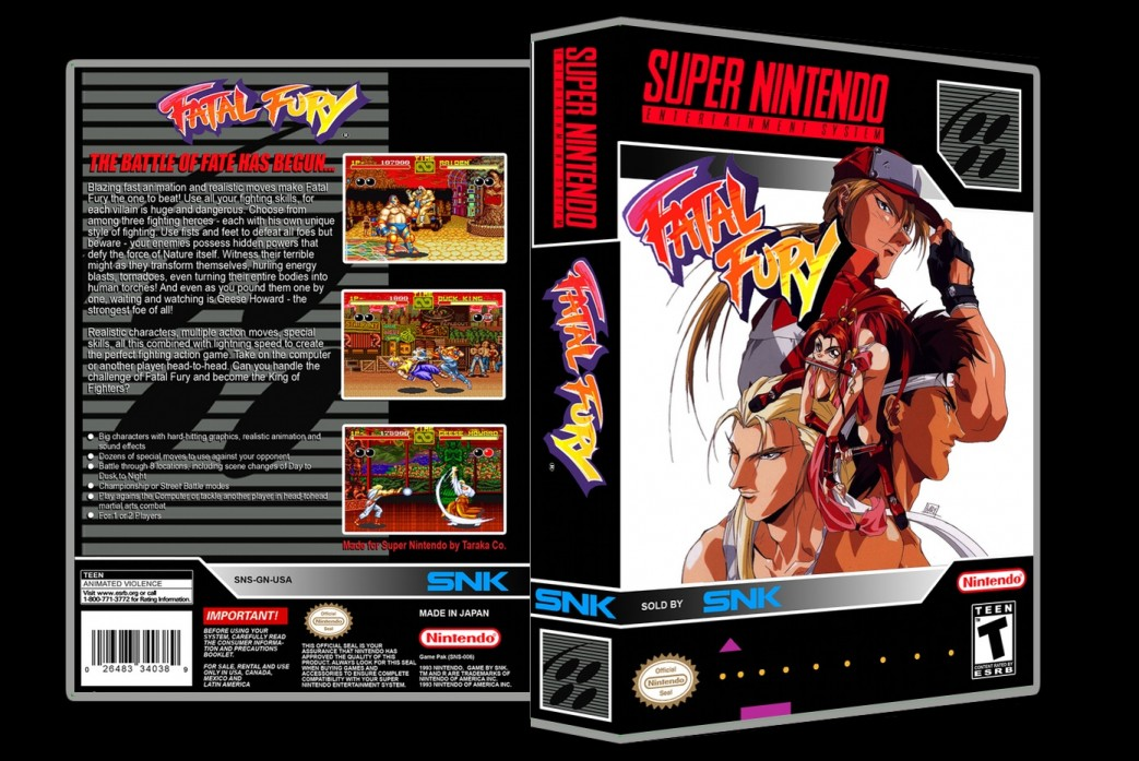 Fatal Fury -  Game Case
