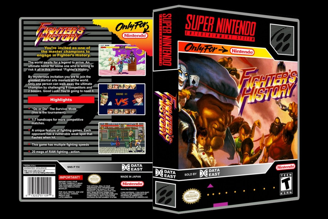 Fighters History -  Game Case