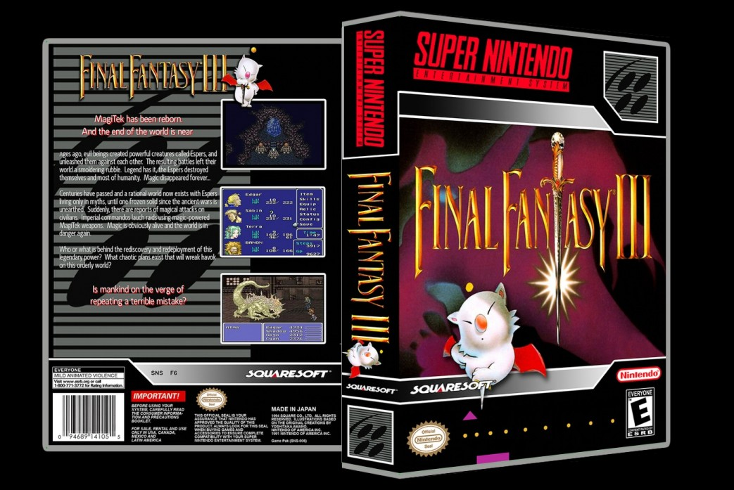 Final Fantasy III -  Game Case