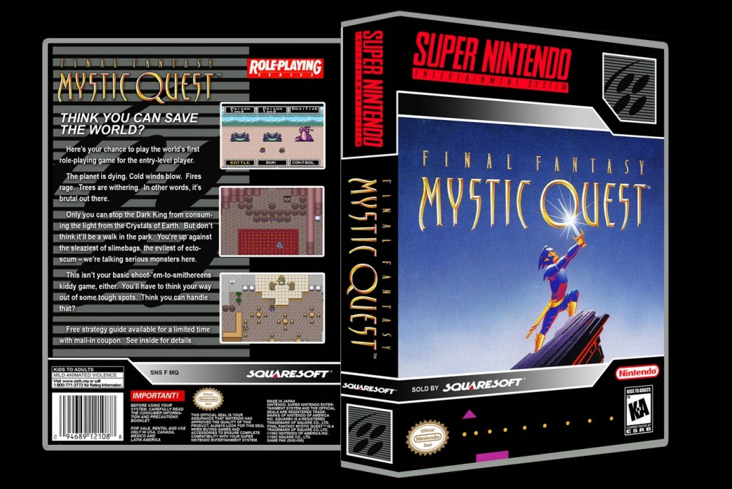 Final Fantasy Mystic Quest -  Game Case