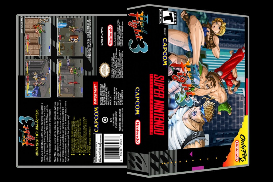 Final Fight 3 -  Game Case