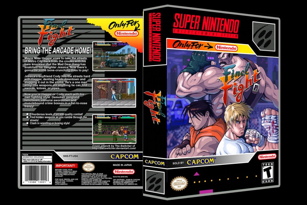 Final Fight -  Game Case