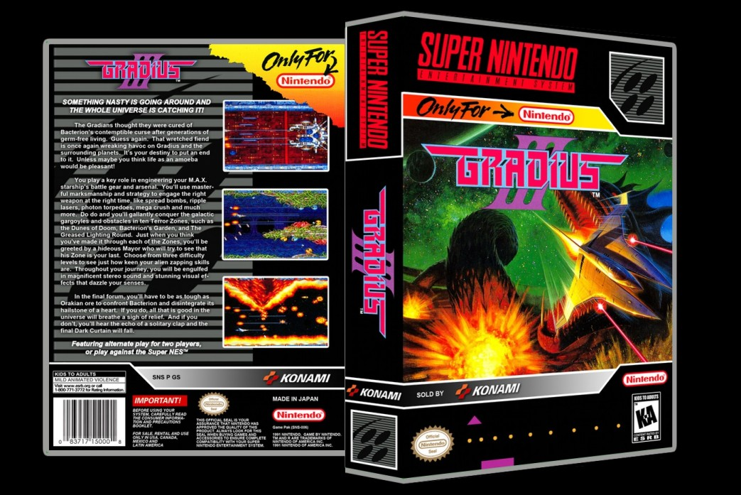 Gradius III -  Game Case