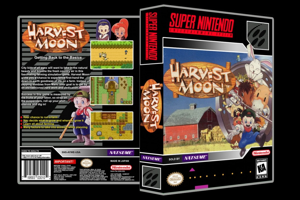 Harvest Moon -  Game Case