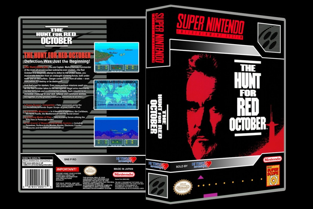 Hunt For Red October -  Game Case