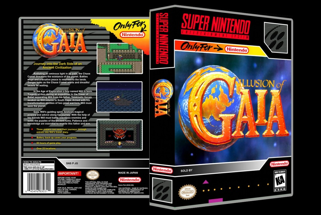 Illusion of Gaia -  Game Case