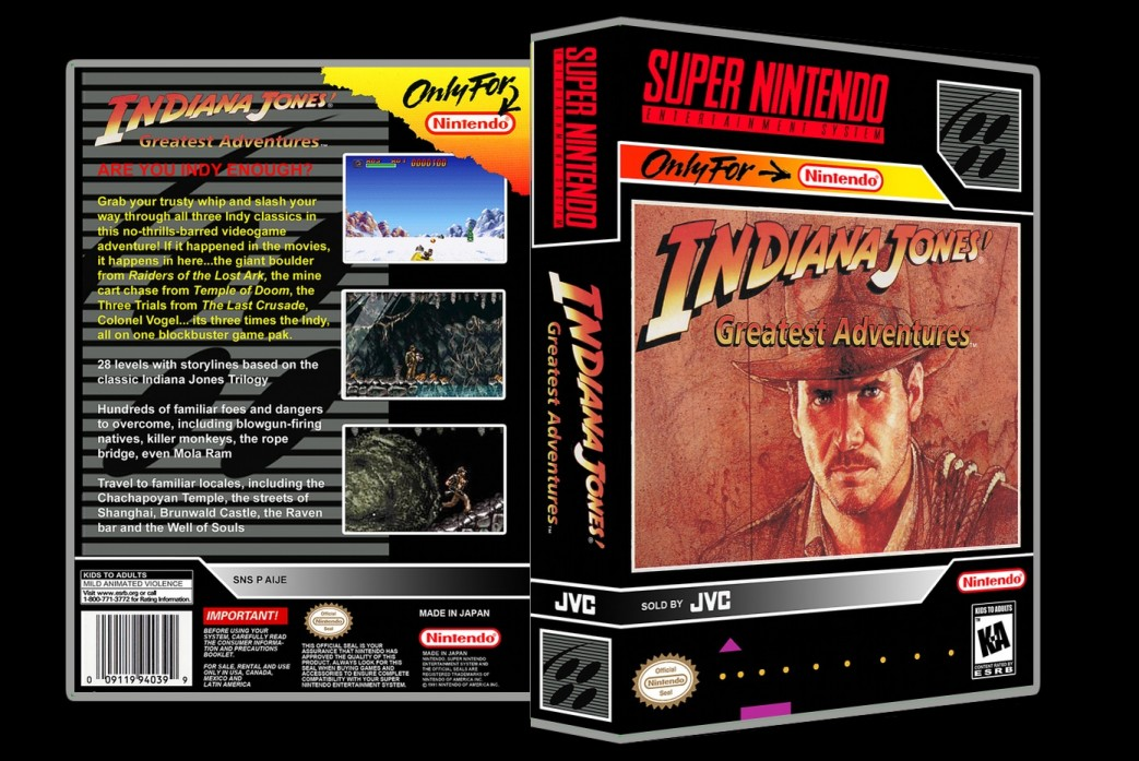 Indiana Jones Greatest Adventures -  Game Case