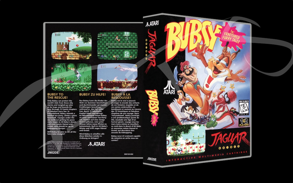 Bubsy -  Game Case