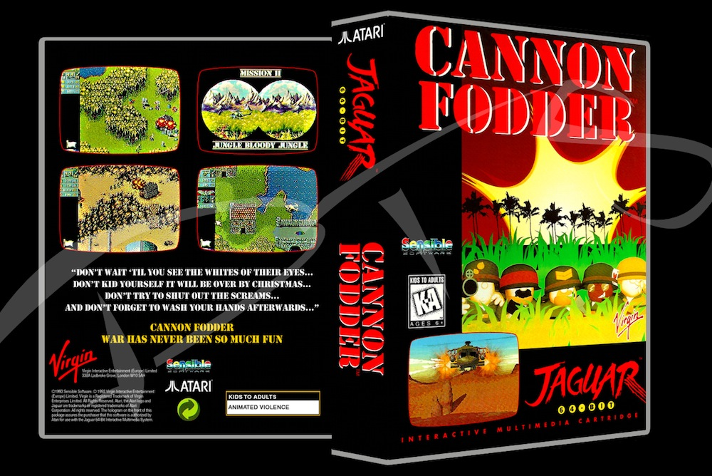 Cannon Fodder -  Game Case