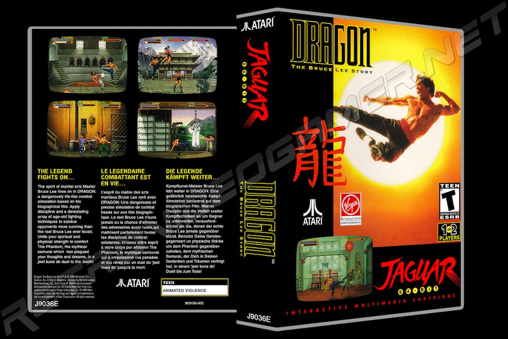 Dragon: The Bruce Lee Story -  Game Case
