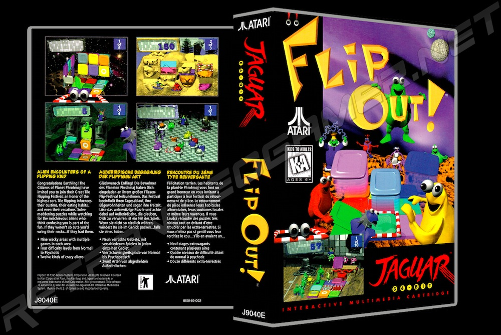 Flip Out! -  Game Case