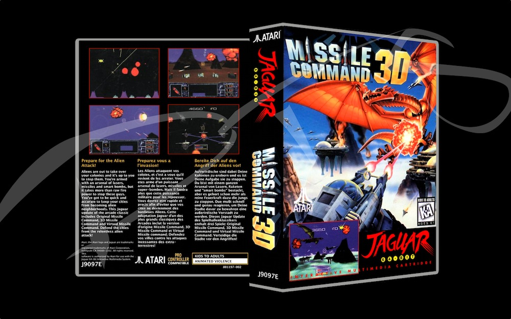 Missile Command 3D -  Game Case