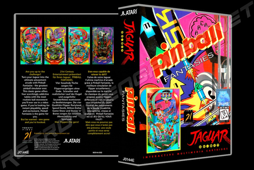 Pinball Fantasies -  Game Case