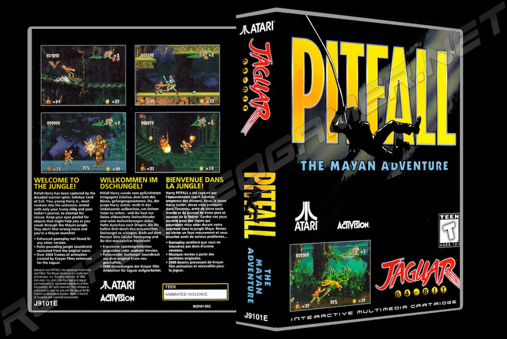 Pitfall -  Game Case