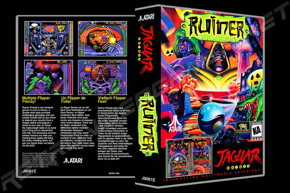 Ruiner Pinball -  Game Case