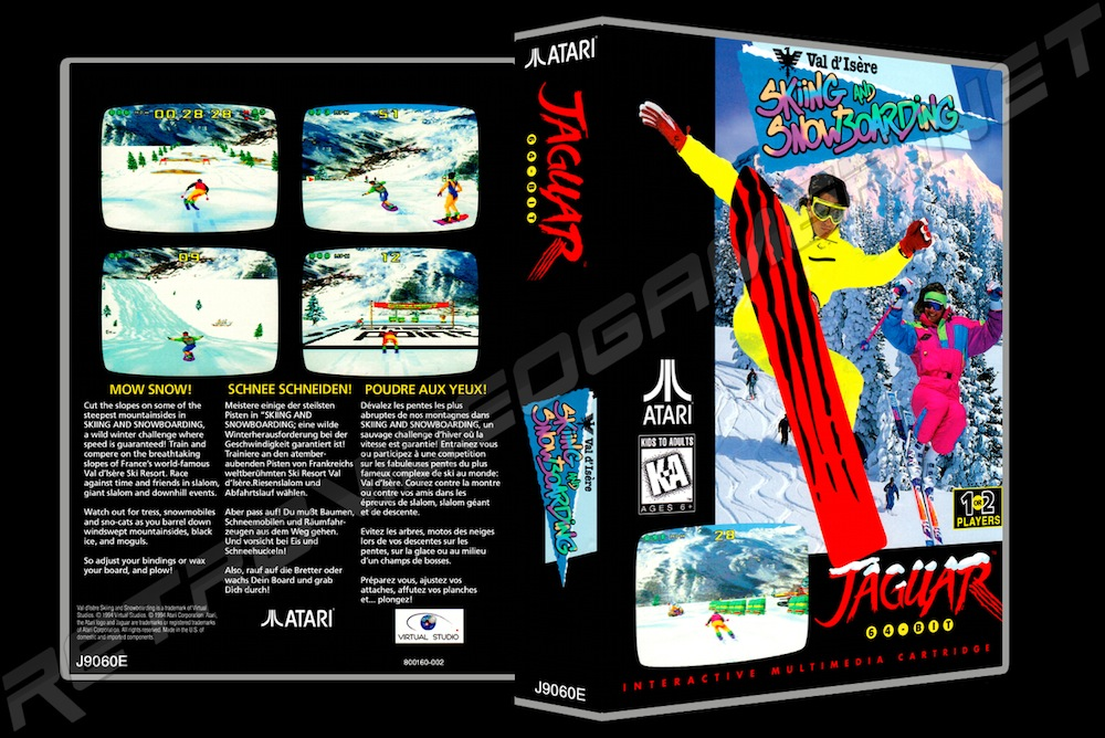 Val DIsere Skiing and Snowboarding -  Game Case